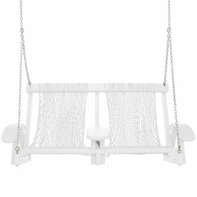 Coastal Porch Swing Finish: White, Fabric: White
