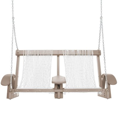 Coastal Porch Swing Finish: Weatherwood, Fabric: White