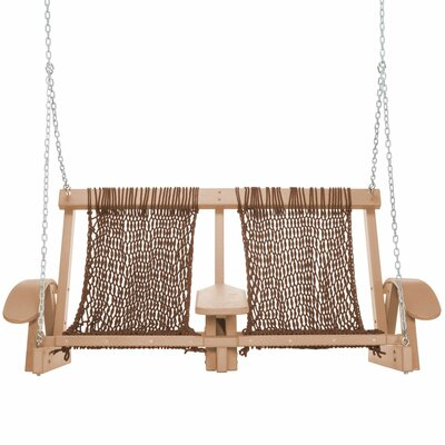 Coastal Porch Swing Finish: Cedar, Fabric: White