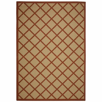 Eells Red Geometric Indoor/Outdoor Area Rug Rug Size: Rectangle 5 x 7