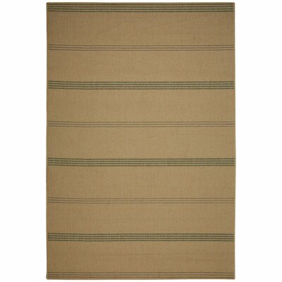 Inlet Natural Stripe Indoor/Outdoor Area Rug Rug Size: 7 x 10