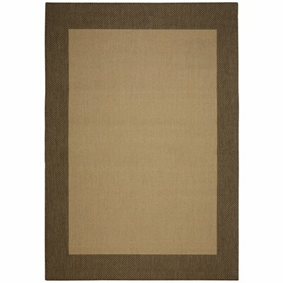 Portofino Cocoa Solid Indoor/Outdoor Area Rug Rug Size: Rectangle 7 x 10