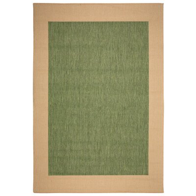 Portofino Green Solid Indoor/Outdoor Area Rug Rug Size: Rectangle 2 x 3