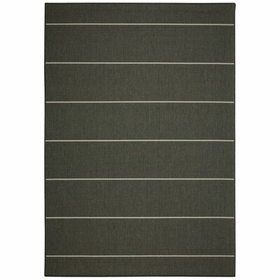 Egbert Grey Stripe Indoor/Outdoor Area Rug Rug Size: Rectangle 7 x 10