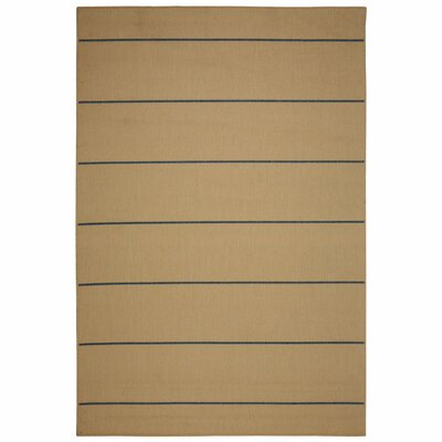 Palmetto Natural Stripe Indoor/Outdoor Area Rug Rug Size: 2 x 3