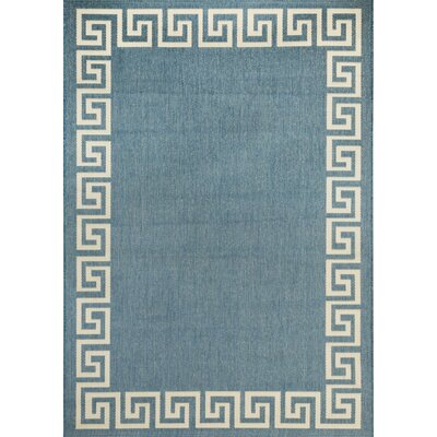 Waves Blue Indoor/Outdoor Area Rug Rug Size: 76 x 109