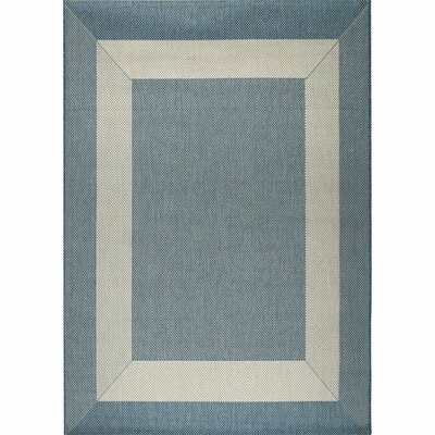 Debellis Blue Indoor/Outdoor Area Rug Rug Size: 53 x 76