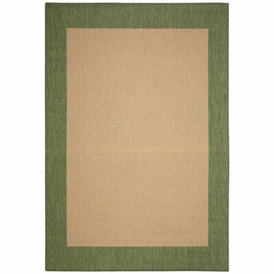 Portofino Natural Solid Indoor/Outdoor Area Rug Rug Size: Rectangle 5 x 7
