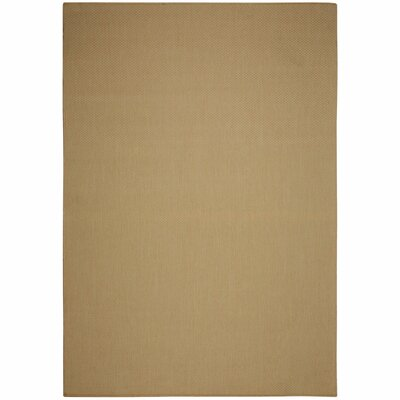 Egan Natural Solid Indoor/Outdoor Area Rug Rug Size: Rectangle 53 x 76