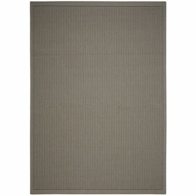 Eger Grey Solid Indoor/Outdoor Area Rug Rug Size: Rectangle 2 x 3