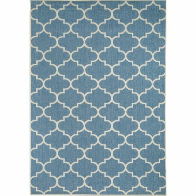 Halloran Blue Indoor/Outdoor Area Rug Rug Size: 53 x 76