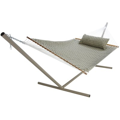 Large SoftWeave Cotton Tree Hammock Color: Flax