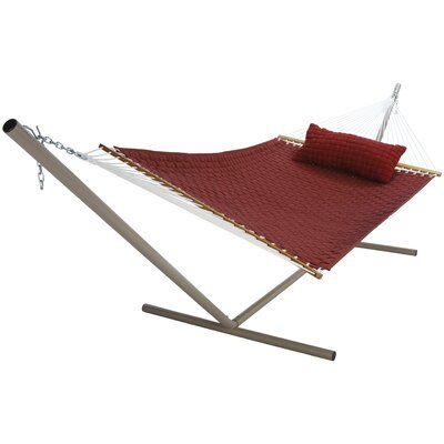Large SoftWeave Cotton Tree Hammock Color: Burgundy