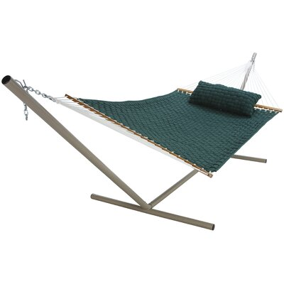 Large SoftWeave Cotton Tree Hammock Color: Green