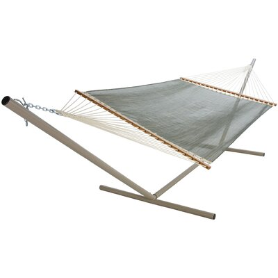 Large Textilene Pool Side Hammock Color: Autumn Stripe