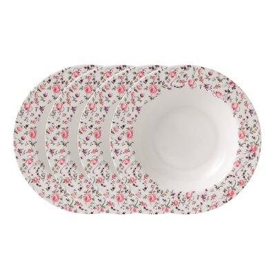 Royal Albert Rose Confetti Casual Rim Soup and Salad Bowl (Set of 4)
