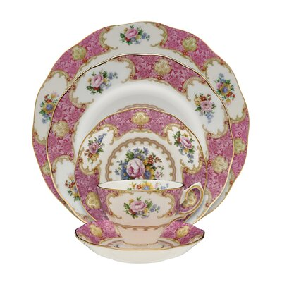 Lady Carlyle Bone China 5 Piece Place Setting, Service for 1 798901365686