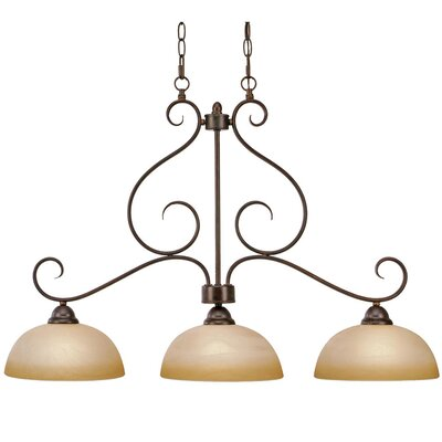 Foxburg 3-Light Kitchen Island Pendant