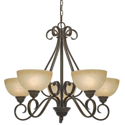 Foxburg 5-Light Shaded Chandelier