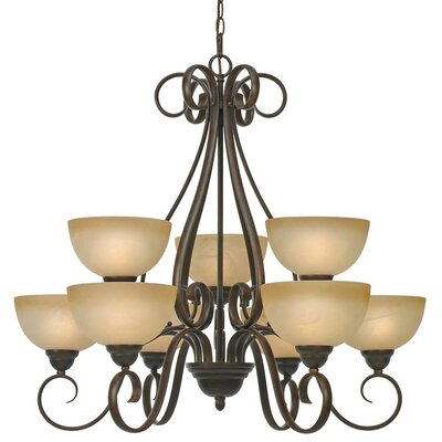 Foxburg 9-Light Shaded Chandelier