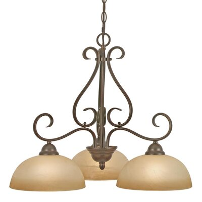 Foxburg 3-Light Shaded Chandelier