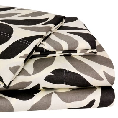 Wildon Home Malaga 300 Thread Count Sheet Set - Color: Taupe / Black, Size: California King at Sears.com