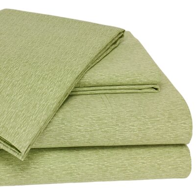 Wildon Home Turino 300 Thread Count Sheet Set - Color: Green, Size: King