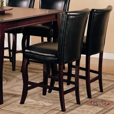 "Hoyt 24"" Bar Chair in Dark Cherry (Set of 2)"