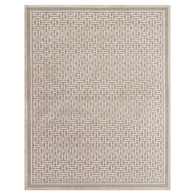 Gray Area Rug Rug Size: Rectangle 53 x 76