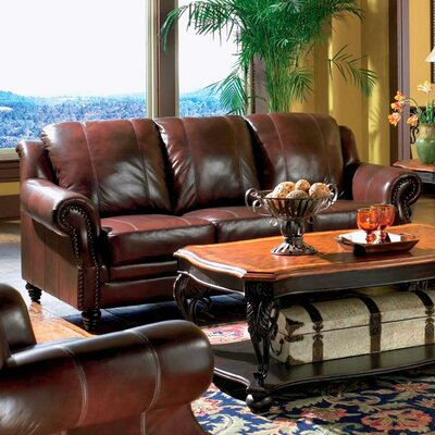 500661 CST7622 Wildon Home Harvard Leather Sofa