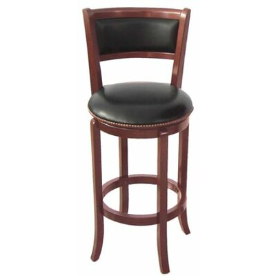 Vinyl 24 Swivel Bar Stool Finish: Cherry