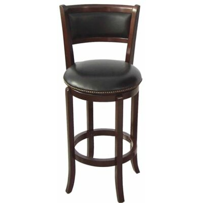 Vinyl 24 Swivel Bar Stool Finish: Espresso