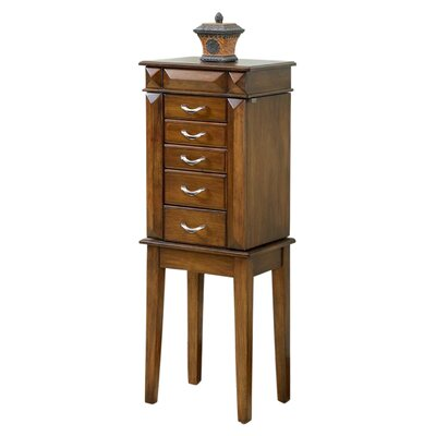 Granada Jewelry Armoire with Mirror Finish: Coffee
