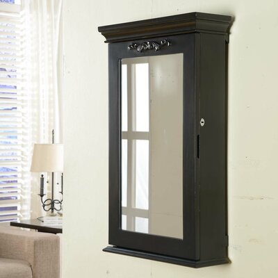 Morris Wall Mounted Jewelry Armoire Finish: Black
