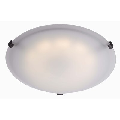 Justyn 1-Light Flush Mount Finish: Oil Rubbed Bronze, Size: 5 H x 16 W x 16 D