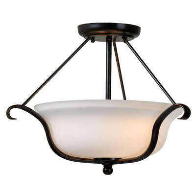Basket 2-Light Semi Flush Mount