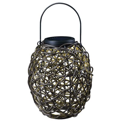 Tangle Solar Hanging Lantern in Black
