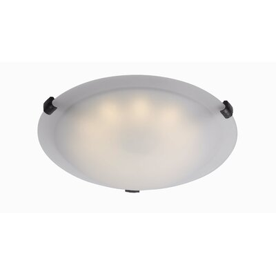 Aero 1-Light Flush Mount Finish: Oil Rubbed Bronze, Size: 4 H x 12 W x 12 D