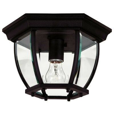 Dural 1-Light Flush Mount Finish: Black