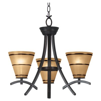 Brookings 3-Light Shaded Chandelier