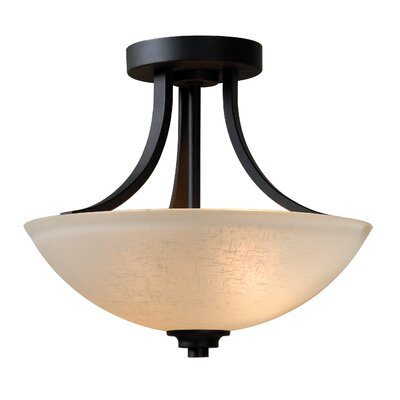 Dynasty 2-Light Semi-Flush Mount