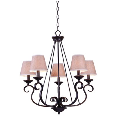 Basket 5-Light Candle-Style Chandelier