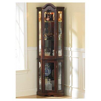 Wildon Home Caldwell Curio Cabinet - Finish: Mahogany