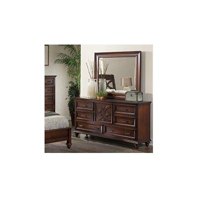 Cayman 6 Drawer Dresser with Mirror