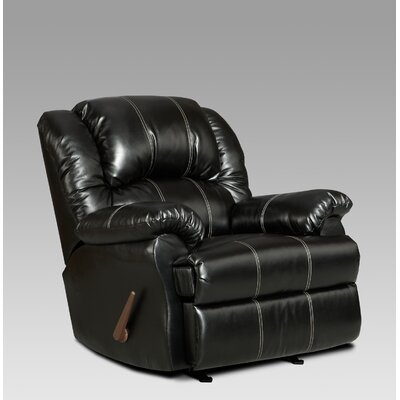 Aruba Manual Recliner Upholstery: Black