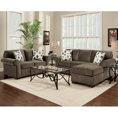 Wildon Home AF2400-SCH-GY / AF2500-SCH-BGY Taylor Living Room Collection