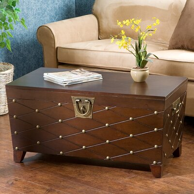 Astoria Grand Cainhoe Nailhead Trunk Coffee Table