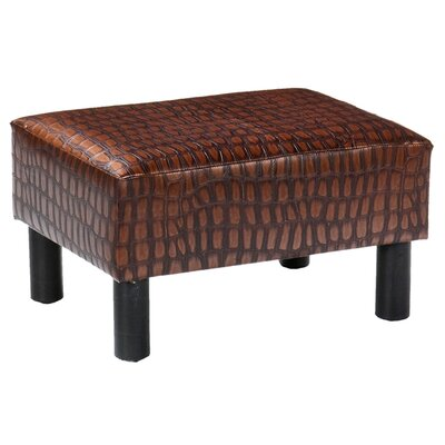 Thomas Ottoman/Foot Stool in Faux Alligator