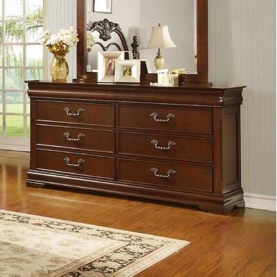 Celine 6 Drawer Double Dresser
