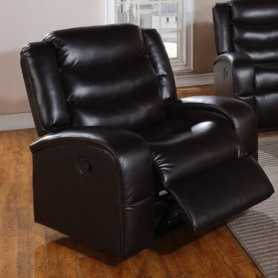 Eden Chair Recliner Upholstery: Black